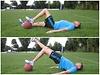 Hüftheben auf Medizinball