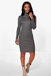 Isla Roll Neck Knitted Midi Dress