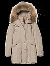 Manteau doublé capuche à fourrure de PARAJUMPERS
