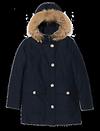 Manteau doublé capuche à fourrure de WOOLRICH