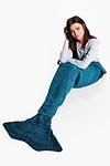 Marl Knit Mermaid Tail Blanket