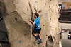 Matthias klettert die blaue Route