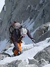 Mit Steigeisen die steile Nordwand hinauf zum La Tour Ronde