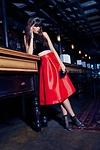 Model, wearing our Poppy top >>