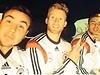 Nationalspieler Mario Götze, André Schürrle und Christoph Kramer