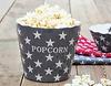 Popcorn Schüssel, grau