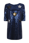 Star Applique Shift Dress