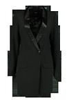 Tuxedo Woven Dress >