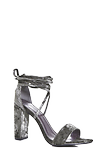 Velvet Wrap Strap Sandal