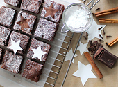 Winterliche Brownies mit MOLAT