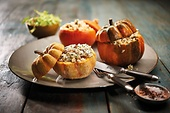 Delicious vegetarian filled mini pumpkins