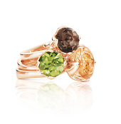 TULIP ring small Peridot - please contact our Customer Service