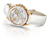 Certina DS First Lady Moon Phase mit weissem Perlmutt Zifferblatt