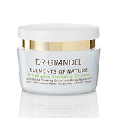 Die Hyaluron Sleeping Cream bereichtert die Serie Elements of Nature von DR. GRANDEL.