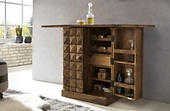 Home affaire Hausbar/ Barschrank »Natalie«, aus Massivholz, in 3-D-Optik