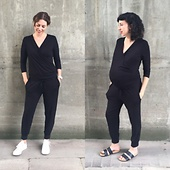 The Rosliston Jumpsuit - with and without a bump