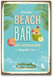Home affaire Stahlschild »Beach Bar«