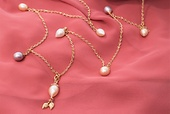 GRAPES necklace Freshwater pearls - please contact our customer service