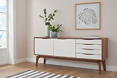andas Sideboard »Edge« walnut