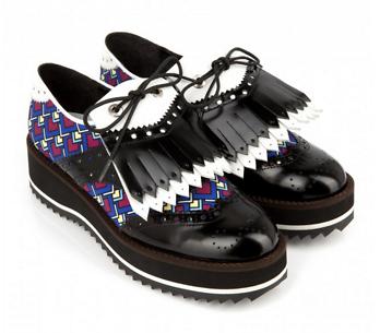 chaussures, derbies, plateforme, mode