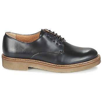 chaussures, derbies, compensées, mode, basique