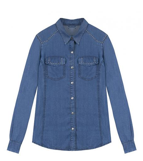 mode, chemise, jean, denim