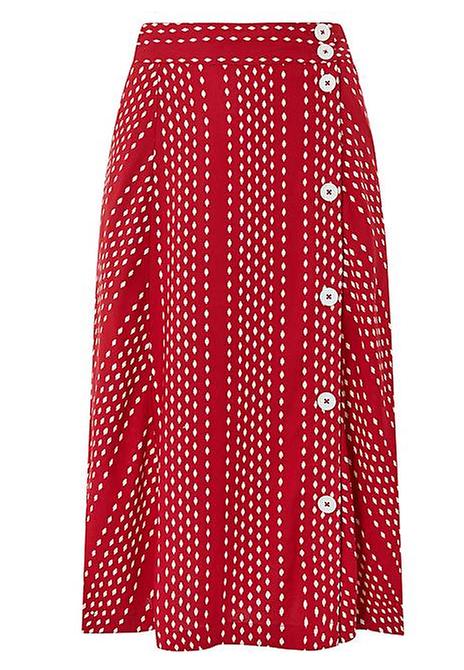 126911818f Stripe Stretch Jersey Midi Tube Skirt