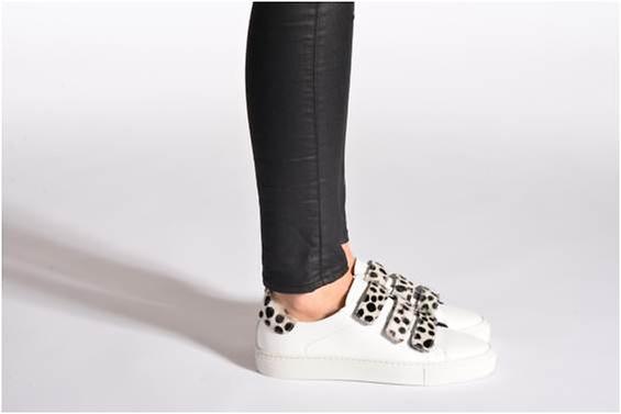 chaussure, basket, mode, léopard