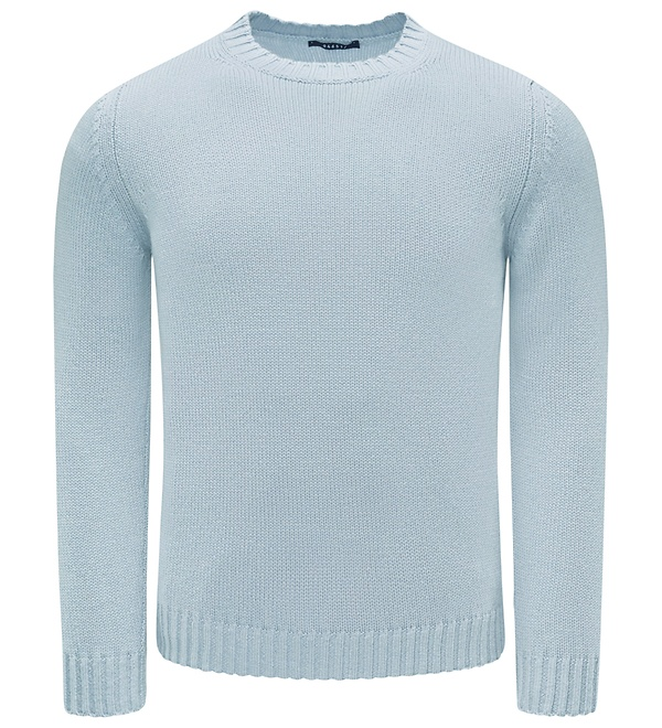 04651/ - Cashmere R-Neck Pullover hellblau