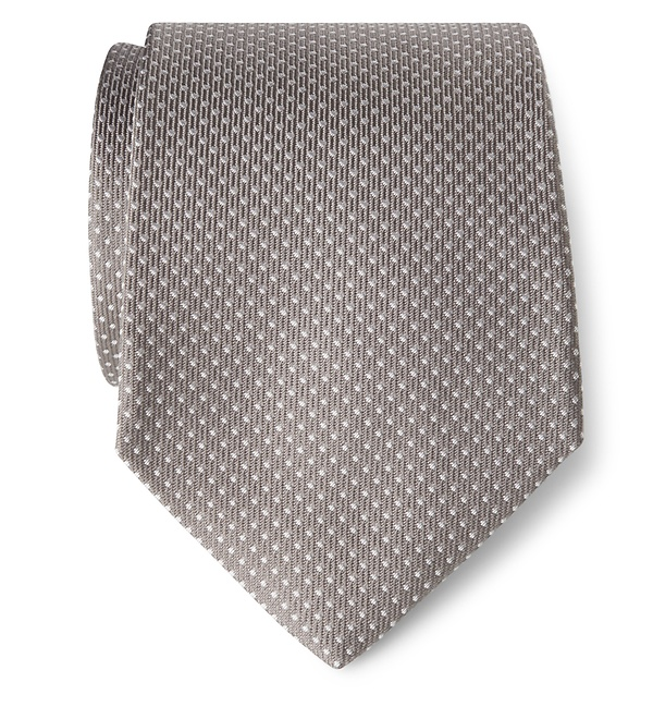 Borrelli - Seidenkrawatte grau gemustert