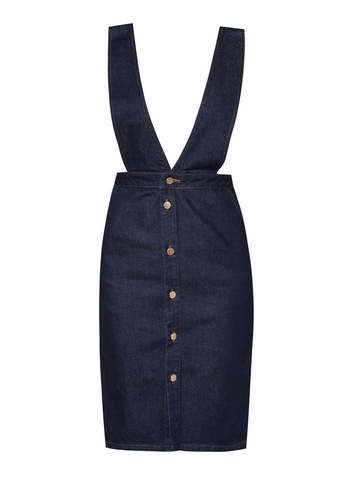 Dorothy Perkins Deep V Button Pinafore Dress