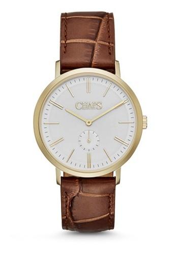 Dunham Light Brown Leather Watch