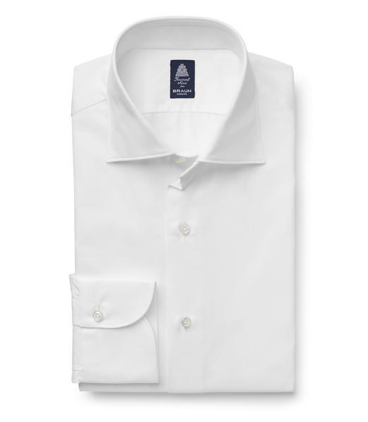 Finamore – Business Hemd 'Luigi' Kent-Kragen weiß