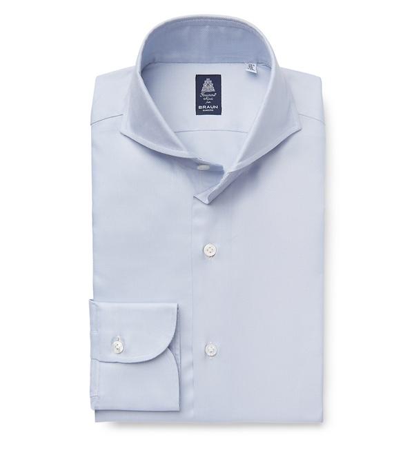 Finamore - Business Hemd 'Sergio' Haifisch-Kragen hellblau