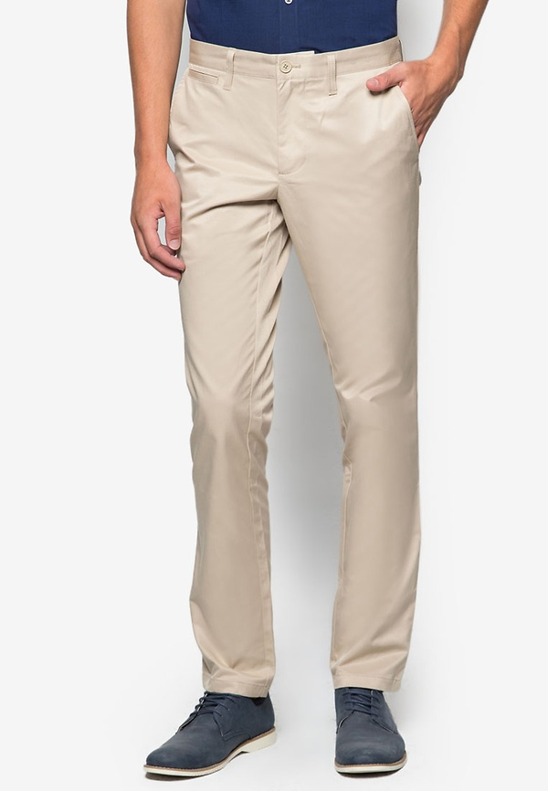 Flat Front Chinos