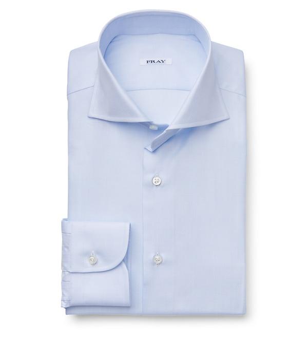 Fray - Business Hemd 'Fausto' Haifisch-Kragen hellblau