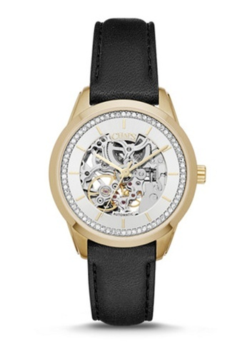 Kasia Black Leather Watch