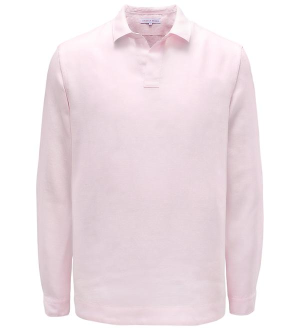 Orlebar Brown - Langarm-Poloshirt 'Ridley' rosé
