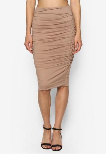 Supre Gather Midi Skirt