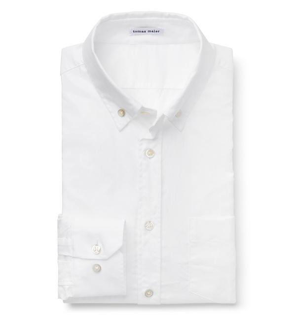 Tomas Maier - Oxford-Hemd Button-Down-Kragen weiß
