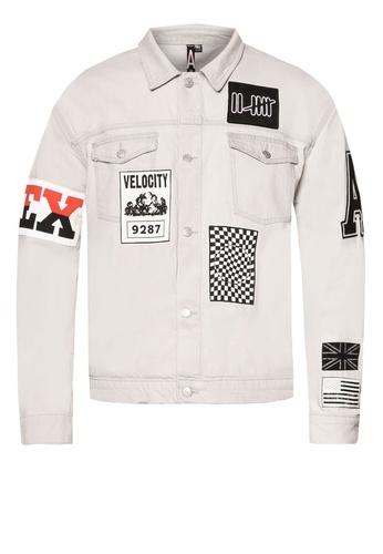 TOPMAN AAA Badged Denim Jacket