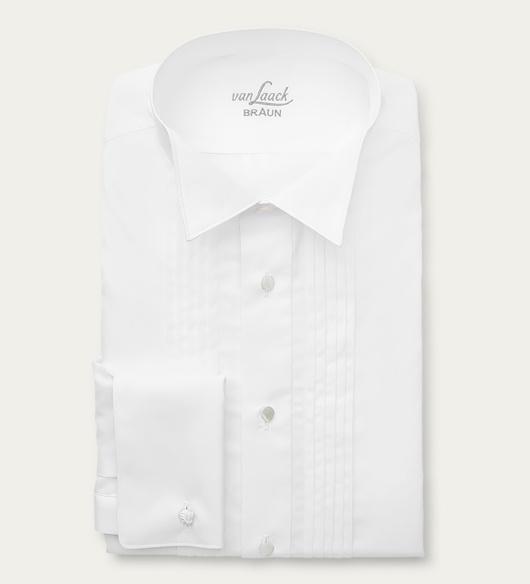van Laack - Smokinghemd 'Sartre Tailor Fit' Kläppchen-Kragen weiß