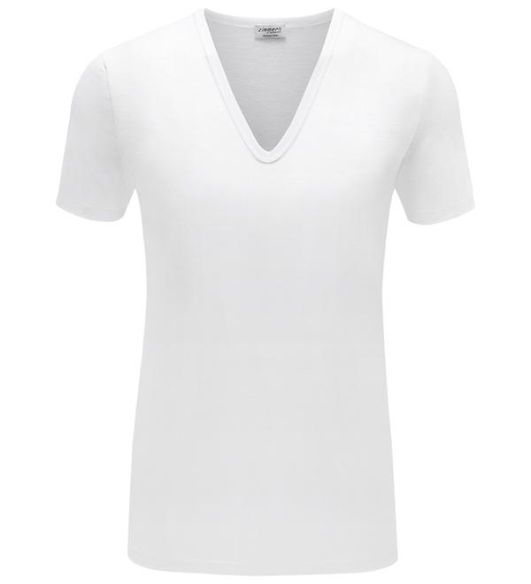 zimmerli - V-Neck Shirt weiß