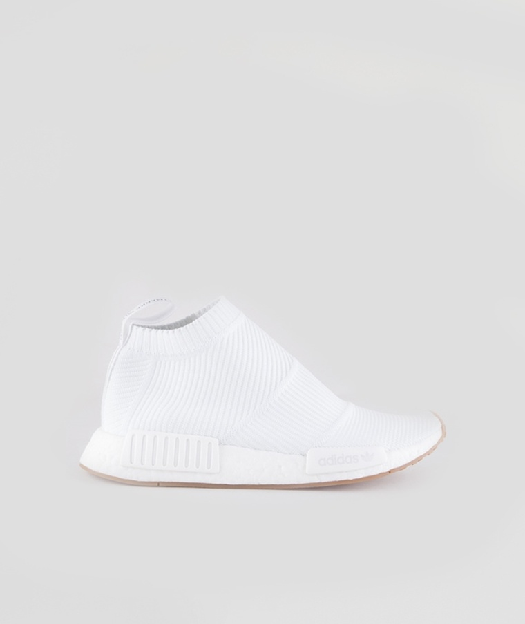 adidas NMD R1 Primeknit Men's Casual Shoe Black/White Hibbett US