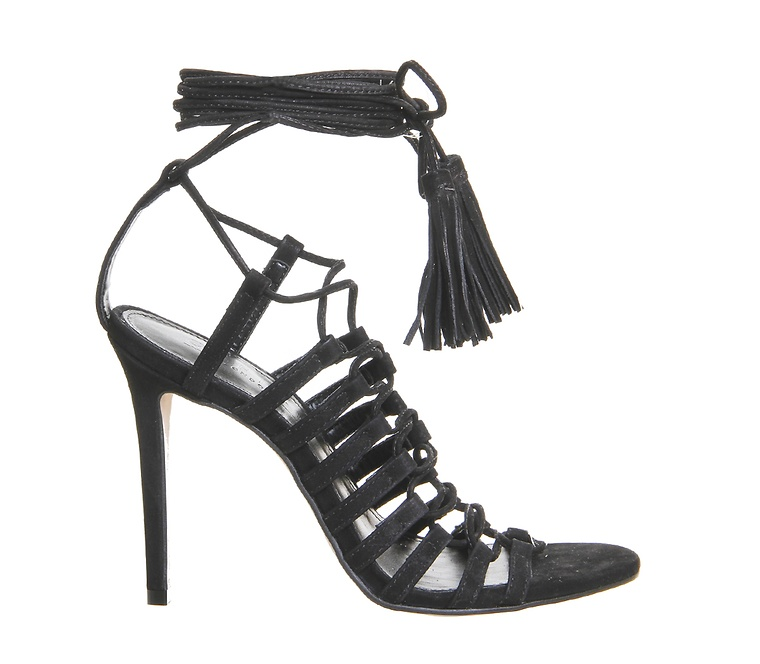 chaussures, sandales, talons, lacets, mode