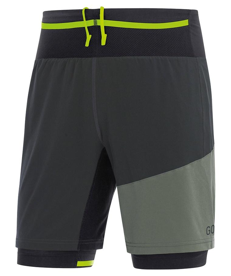 """Gore Wear Herren Laufshorts /""""Fusion 2in1 Shorts/"""" NEU"""