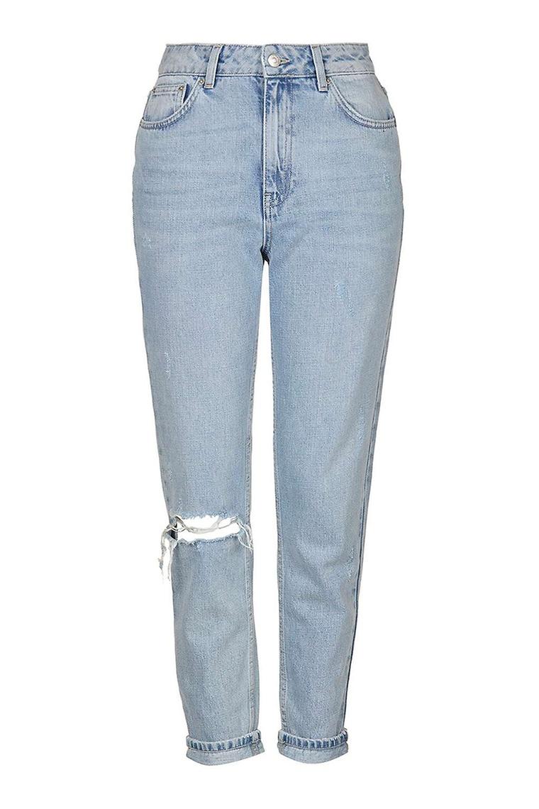 jean, pantalon, basique, mode, mom