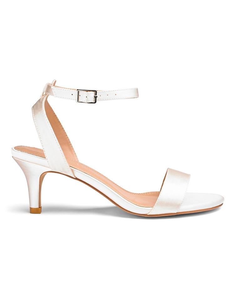 f57d99628d1 Kitten Heel Strappy Sandals Extra Wide EEE Fit