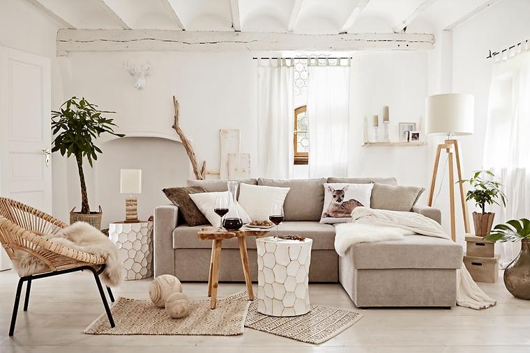 Modernes Wohnzimmer Mit Natürlichen Materialien