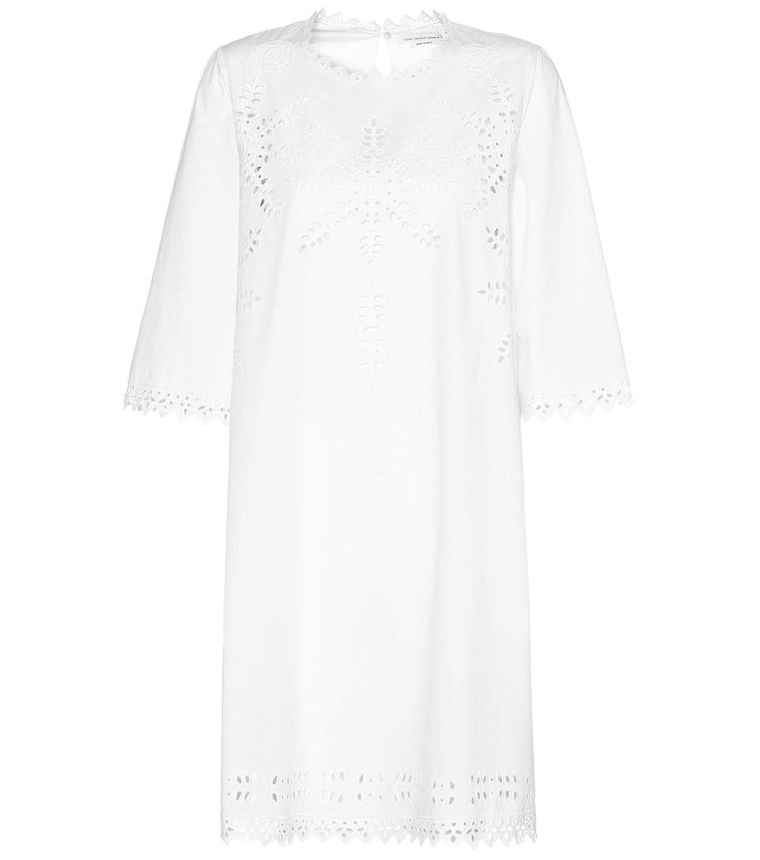 robe, mode, dentelle, blanche